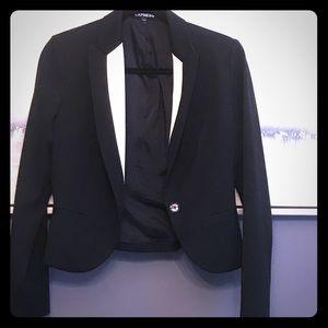 Express black and white blazer